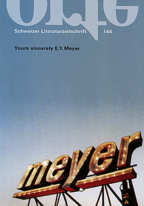 Nr. 144: Yours sincerely E. Y. Meyer