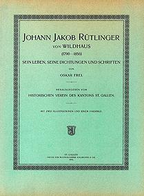 Johann Jakob Rütlinger von Wildhaus (1790-1856)