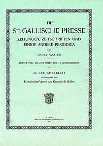 Die St. Gallische Presse
