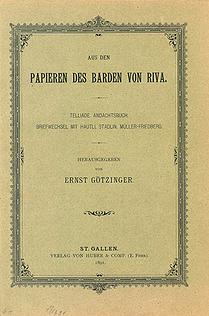 Aus den Papieren des Barden von Riva.