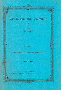 Vadianische Briefsammlung V.  1. Hälfte 1531-1533