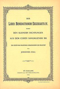 Der Liber Benedictionum Ekkeharts IV.