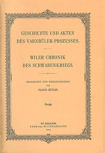 Geschichte und Akten des Varnbüler-Prozesses.