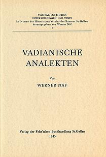 Vadianische Analekten