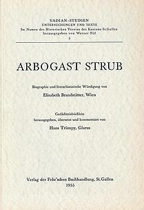 Arbogast Strub Biographie und literarhistorische Würdigung