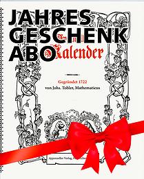 Geschenkabo Appenzeller Kalender