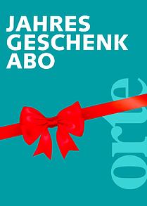 Geschenkabo orte Literaturzeitschrift