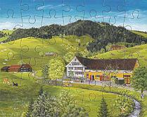 Puzzle Kinder und Hunde beim Spielen